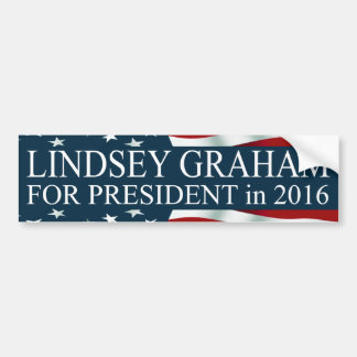 Lindsey Graham for President in 2016 Bumper Sticker