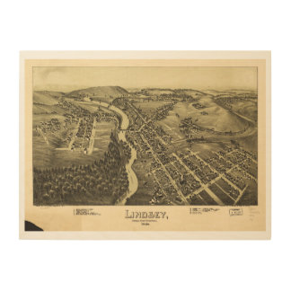 Lindsey (Punxsutawney) Pennsylvania 1895 Wood Prints