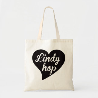Lindy Hop Big Heart Jade Tote Bag