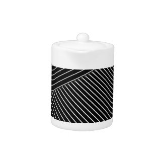 Line art - geometric illusion, abstract stripes bw