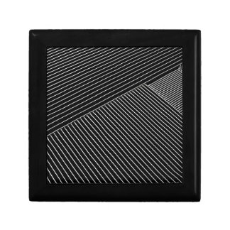 Line art - geometric illusion, abstract stripes bw gift box