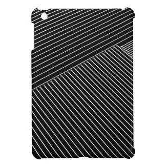 Line art - geometric illusion, abstract stripes bw iPad mini cases