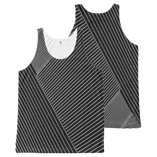 Line Art - geometric illusion, abstraction pattern All-Over-Print Tank Top