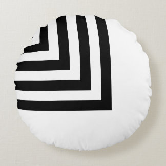 Line Art - geometric illusion, abstraction pattern Round Pillow