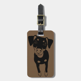 LINE ART Min Pin Luggage Tag