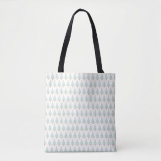 line christmas trees tote bag