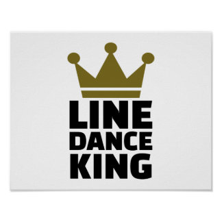 Line dance king poster
