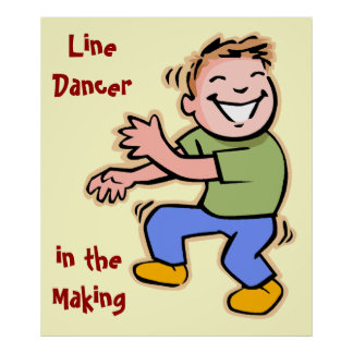 Line Dancer in the Making Boy Posters