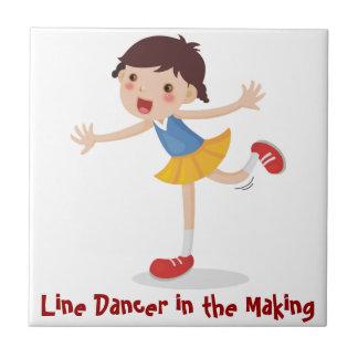 Line Dancer in the Making - Girl Tile