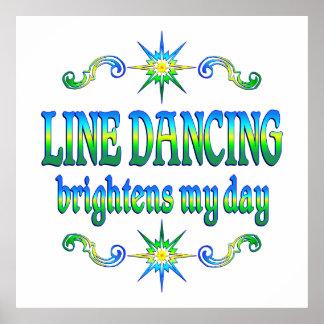 Line Dancing Brightens Poster