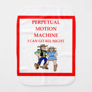 line dancing burp cloth