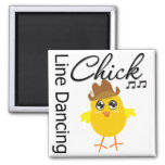 Line Dancing Chick Fridge Magnet