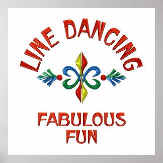 Line Dancing Fabulous Fun Poster