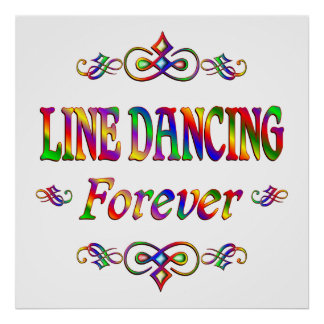 Line Dancing Forever Print