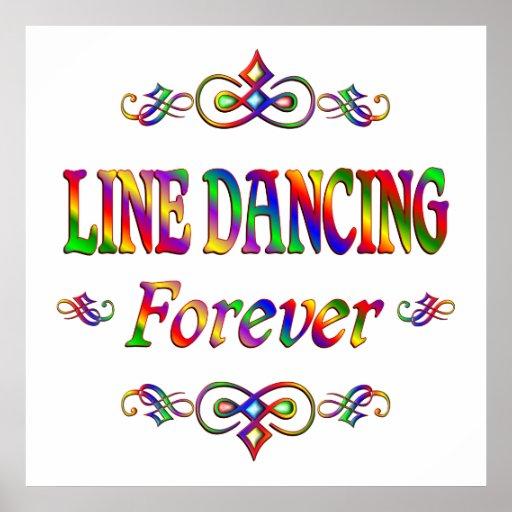 Line Dancing Forever Print