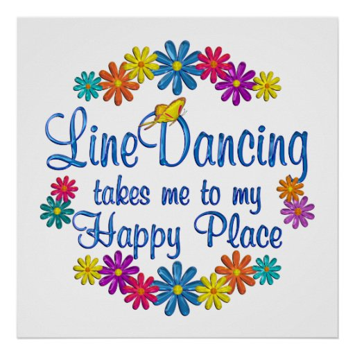 Line Dancing Happy Place Poster