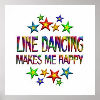 Line Dancing Happy Poster
