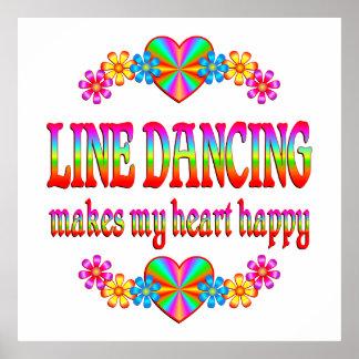 Line Dancing Heart Happy Poster
