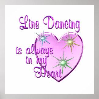 Line Dancing Heart Poster