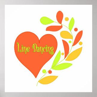 Line Dancing Heart Print