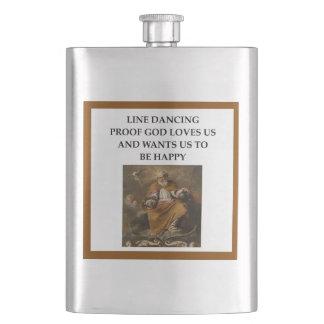 line dancing hip flask