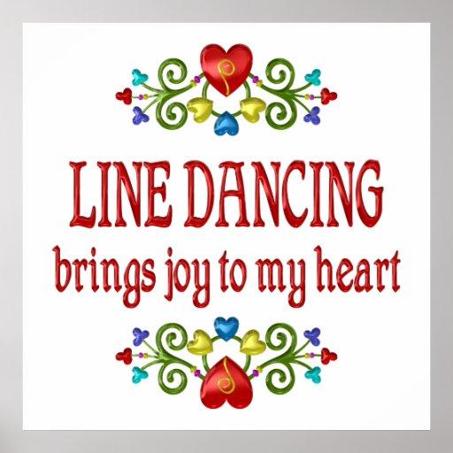 Line Dancing Joy Posters