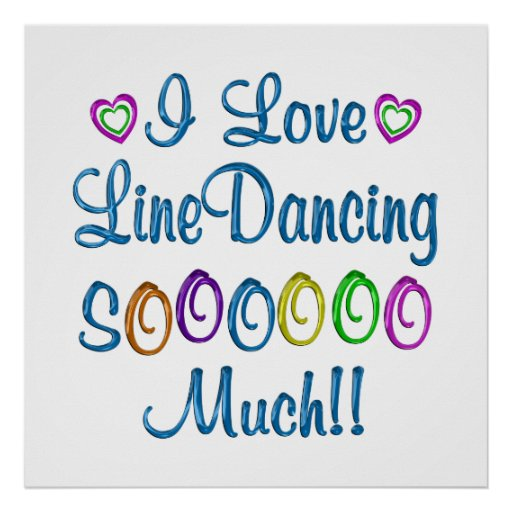Line Dancing Love So Much Poster
