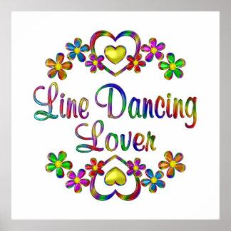 Line Dancing Lover Poster