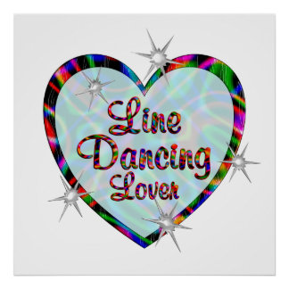 Line Dancing Lover Posters