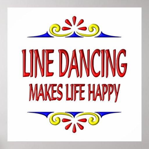 Line Dancing Makes Life Happy Print