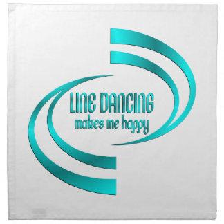 Line Dancing Makes Me Happy Napkin
