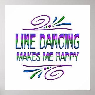 Line Dancing Makes Me Happy Poster