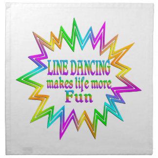 Line Dancing More Fun Napkin