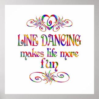 Line Dancing More Fun Poster