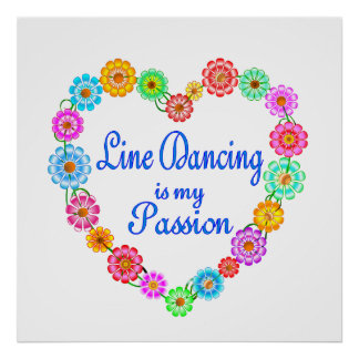 Line Dancing Passion Posters