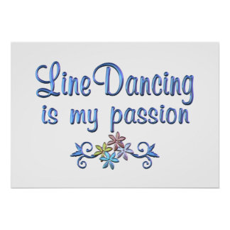 Line Dancing Passion Print