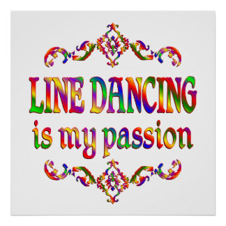 Line Dancing Passion Poster