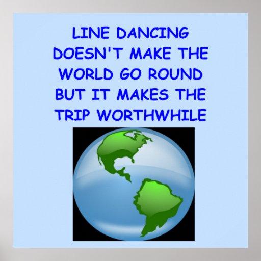 line dancing posters