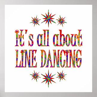 LINE DANCING PRINT