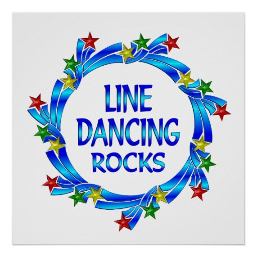Line Dancing Rocks Poster