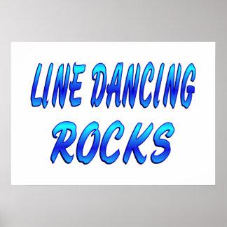 LINE DANCING ROCKS PRINT