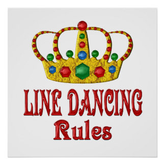 LINE DANCING RULES POSTER