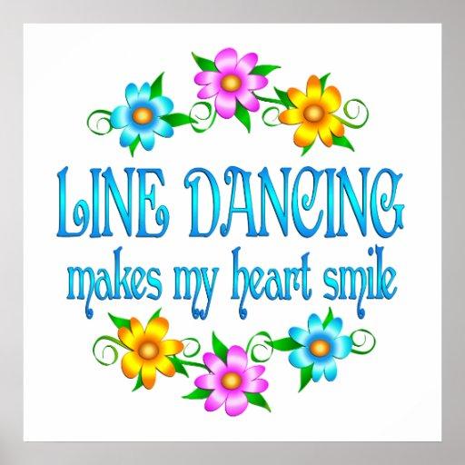 Line Dancing Smiles Print