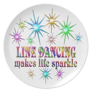 Line Dancing Sparkles Plate