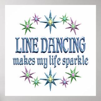 Line Dancing Sparkles Print