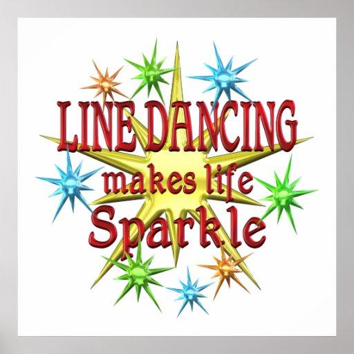 Line Dancing Sparkles Poster