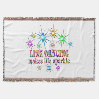 Line Dancing Sparkles Throw Blanket