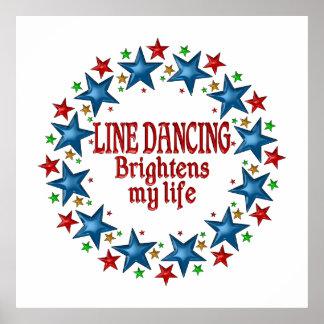 Line Dancing Stars Poster