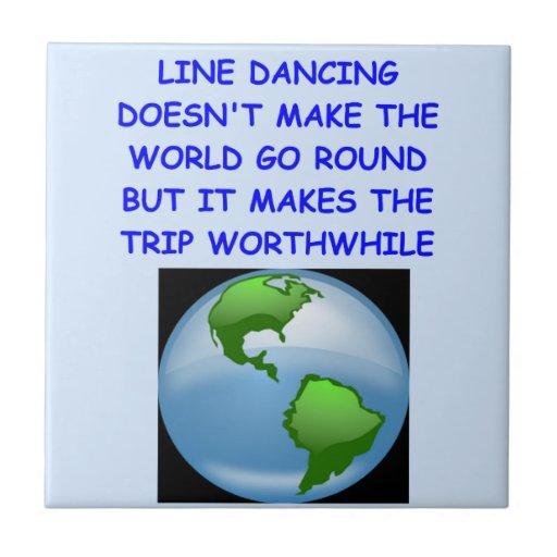 line dancing ceramic tile