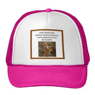 line dancing trucker hat